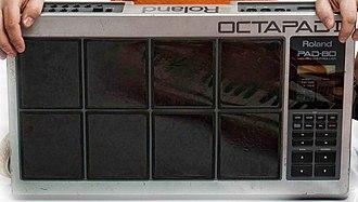 MIDI controller - The Roland Octapad percussion/drum controller.