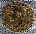 Roma, principato, asse di ottaviano augusto, 11-12 dc.JPG
