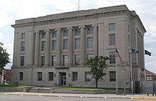 Rooks County, Kansas courthouse from NE 1.JPG