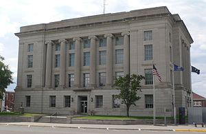Rooks County, Kansas - Image: Rooks County, Kansas courthouse from NE 1