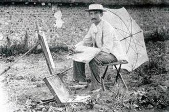 Guy Rose - Guy Rose in Giverny, 1890