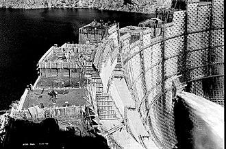 Ross Dam - Ross Dam third construction phase, 1947