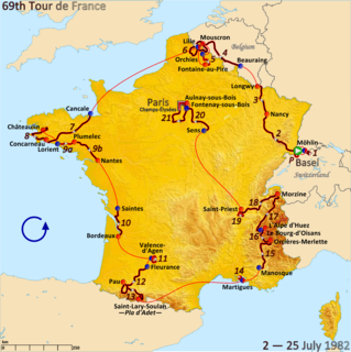 1982 Tour de France, Prologue to Stage 10 Wikimedia list article
