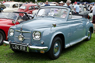 Rover P4 - Tickford drophead coupé registered July 1951
