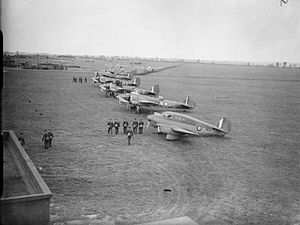 RAF Wyton - A Percival Q.6 Petrel and Bristol Blenheim Mark IVs of No. 2 Group at Wyton between 1939 and 1941