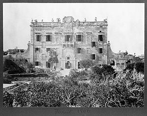St Julian's, Malta - Spinola Palace in around 1906