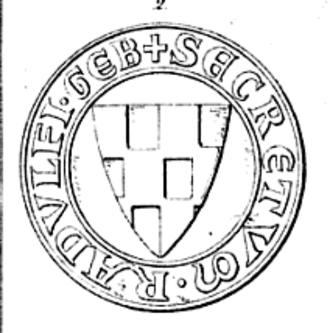 Rudolf of Geneva - Rudolf's seal, showing his coat-of-arms.