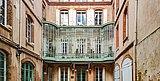Rue Antonin-Mercié (Toulouse) - no 11 bis immeuble (1903) – Cour intérieure.jpg