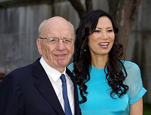 Rupert Murdoch - Murdoch with his third wife, Wendi, in 2011