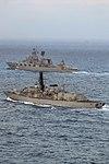 Russian cruiser Marshal Ustinov and HMS St Albans MOD 45165085.jpg
