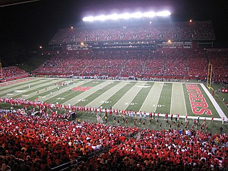 High Point Solutions Stadium - Scarlet Knights vs. Cincinnati Bearcats with 43,768 spectators.