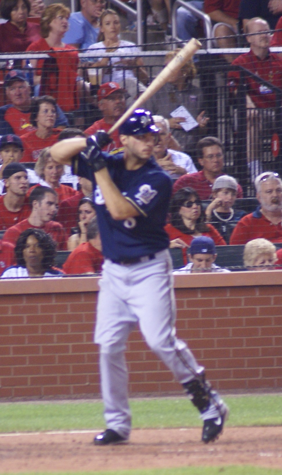 Ryan Braun at bat in August 2008