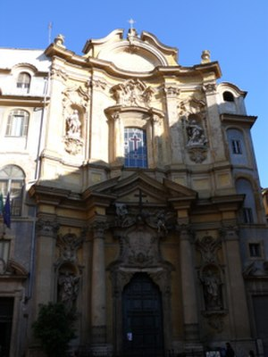 Giuseppe Sardi - The façade of S. Maria Maddalena