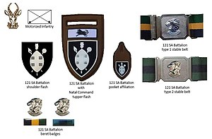 121 South African Infantry Battalion - SADF era 121 Battalion insignia