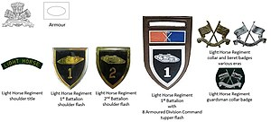 Light Horse Regiment - SADF era Light Horse Regiment insignia