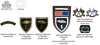 Light Horse Regiment - SADF era Light Horse Regiment insignia
