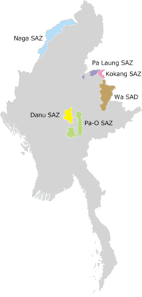 Location of Pa'O Self-Administered Zone