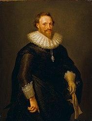 Jan Maurits Quinkhard: Portrait of Pieter Cornelisz. Hooft (1581-1647)