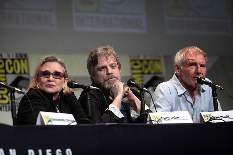 File:SDCC 2015 - Carrie Fisher, Mark Hamill & Harrison Ford (19060584583).jpg