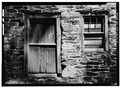 SOUTH FRONT, DOOR AND WINDOW DETAIL - Thomas Mill, Crum Creek (Willistown Township), Whitehorse, Chester County, PA HABS PA,15-WHIHO.V,2-4.tif