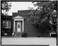 SOUTH FRONT OF EAST WING WITH DOOR - Plains School, Bond Street (opposite Paschal Street), Plains, Sumter County, GA HABS GA,131-PLAIN,18-7.tif