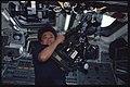 STS095-355-035 - STS-095 - Mukai on aft flight deck with HDTV camera - DPLA - 6b868bb4d032ca42f015c402d283b627.jpg