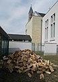 Sacred Heart Church, firewood, 2018 Mezőkövesd.jpg