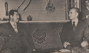 1975 Algiers Agreement - Saddam with the Shah
