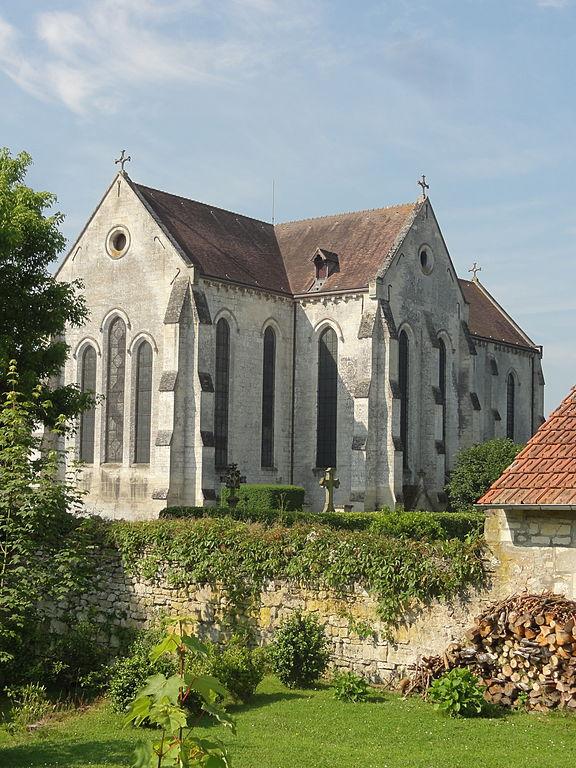 FileSaintJeanauxBois (60), église abbatiale, chevet  ~ Restaurant Saint Jean Aux Bois
