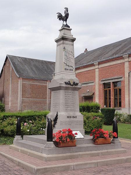 Saint-Simon (Aisne) monument aux morts