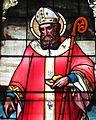 Saint Nicholas Catholic Church (Zanesville, Ohio) - stained glass, St. Nicholas - detail, closeup.jpg