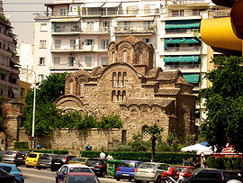 """Κτίσμα της περιόδου της Παλαιολόγειας Αναγέννησης ο Ιερός Ναός Αγίου Παντελεήμονος, παλαιό καθολικό της Μονής της Περιβλέπτου ή του """"κυρ Ισαάκ""""."""