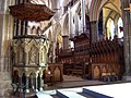 Salisbury Cathedral, Pulpit ^ Quire - geograph.org.uk - 2677932.jpg
