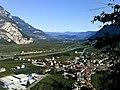 Salurn, Blick vom Aufstieg zur Haderburg.jpg