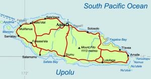 Map of Upolu