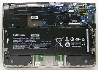 Chromebook - Samsung Chromebook Series 3 with bottom panel removed