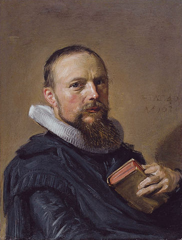 Samuel Ampzing by Frans Hals