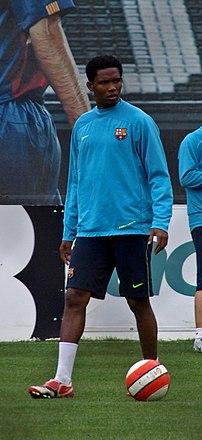 Samuel Eto'o (born March 10, 1981 in Douala) i...