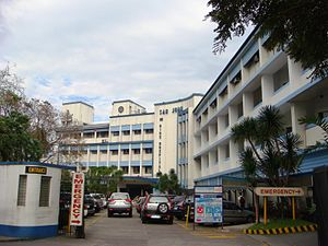 San Juan de Dios Educational Foundation - San Juan de Dios Hospital entrance along Roxas Boulevard.