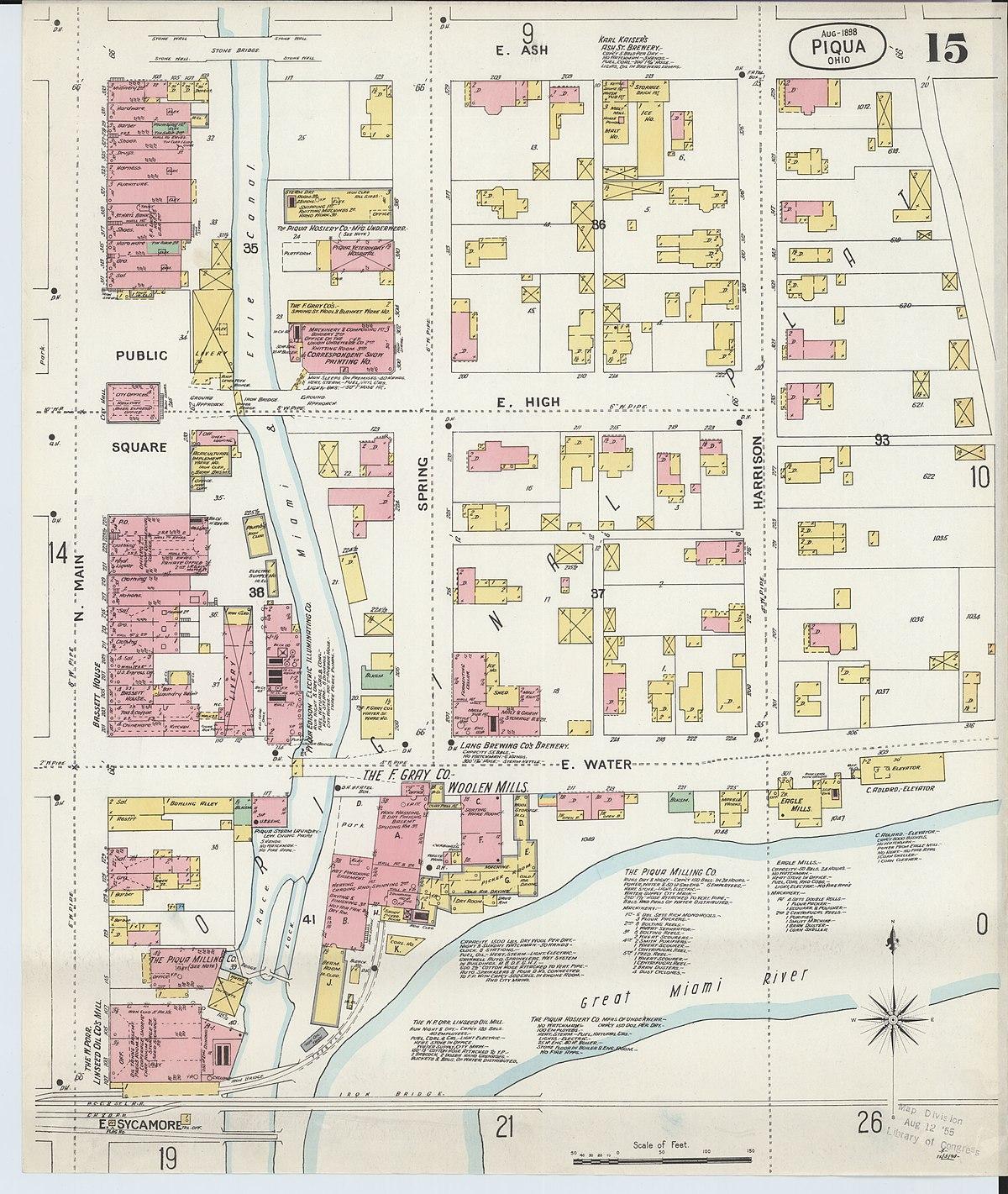 file:sanborn fire insurance map from piqua, miami county