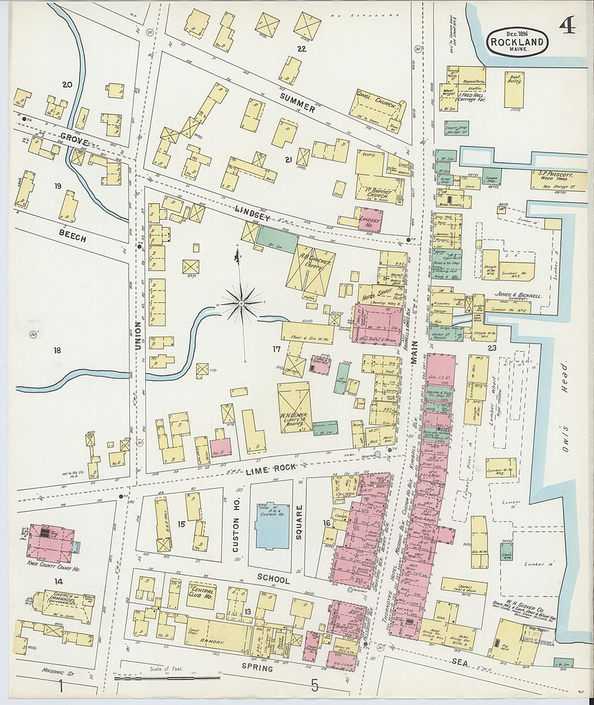 map of rockland maine File Sanborn Fire Insurance Map From Rockland Knox County Maine map of rockland maine
