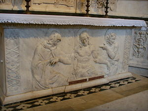 Andrea Sansovino - Altar front, Santo Spirito