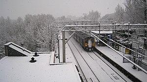 Sawbridgeworth railway station - During the snow of January 2010