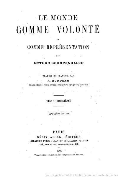 File:Schopenhauer - Le Monde comme volonté et comme représentation, Burdeau, tome 3, 1909.djvu