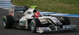 Mercedes MGP W01 - Image: Schumacher Mercedes Jerez (cropped)