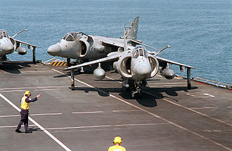 Harrier Jump Jet - Image: Sea Harriers FA2 in Persian Gulf