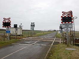 Seacroft, site of station, level crossing-Geograph-2261129-by-Dave-Hitchborne.jpg
