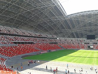 Singapore national football team - Image: Seating at Singapore National Stadium