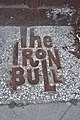 Seattle - Iron Bull pavement sign 01.jpg