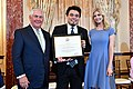 Secretary Tillerson and Advisor to the President Ivanka Trump Pose for a Photo With 2017 TIP Hero Leonardo Sakamoto of Brazil (35183982590).jpg